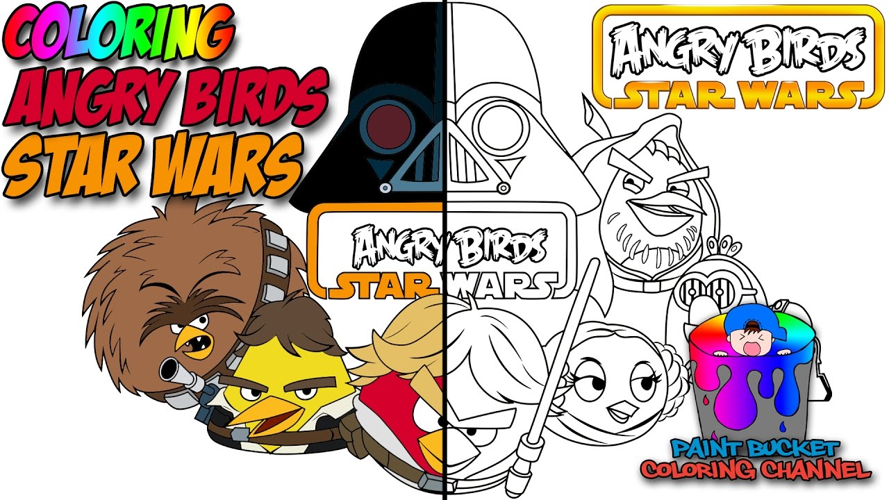 how to color angry birds star wars angry birds coloring page