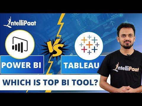 Tableau vs Power BI   Top BI Tools 2020   Power BI vs Tableau   Intellipaat