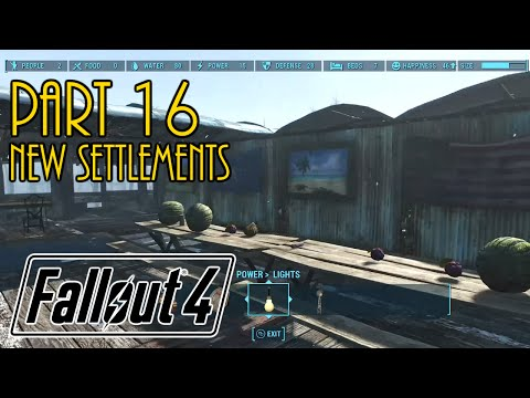 Let's Play Fallout 4 Live - Part 16 - Taking and Building New Settlements - No real missions