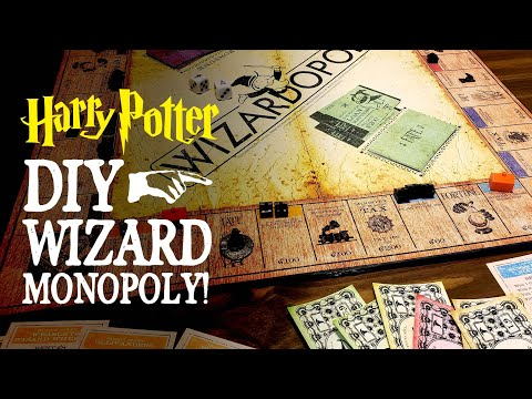 Wizardopoly! DIY Harry Potter Inspired Monopoly