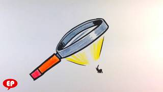 How to Draw Magnifying Glass -Easy Pictures to Draw