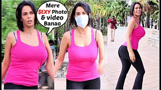 Mallika Sherawat FLIRTING With Media In Her $EXY Running Outfit