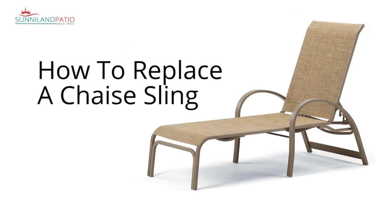 How To Replace A Chaise Lounge Sling  Youtube