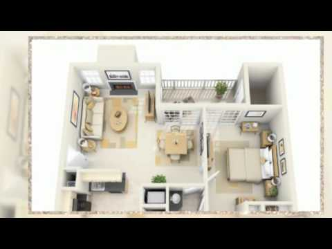 1 Bedroom Apartment Floor Plans 3d - YouTube
