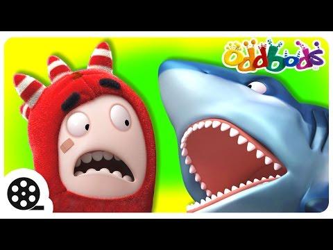 Oddbods Vs The WILD   Shark Attack   Cartoons For Kids