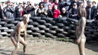 mud wrestling at the milwaukee harley davidson rally 9/4/11