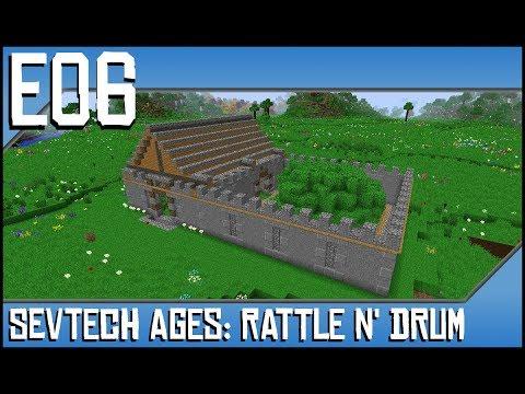 Sevtech Ages-Rattle N' Drum-Ep6-Modded Minecraft-Oak Barrel, Tipi, and  Sleeping Mat
