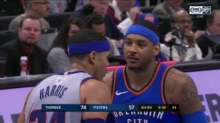 Carmelo Anthony Highlights 21 pts vs Detroit Pistons 27 01 2017