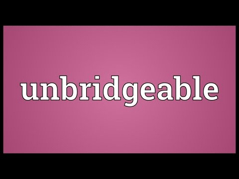 Header of unbridgeable