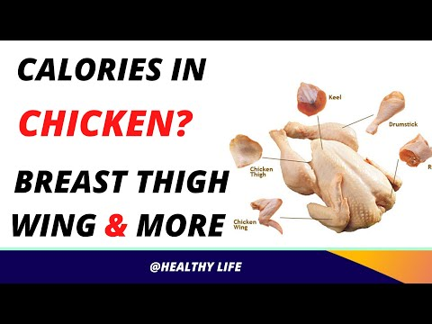 Calories in Chicken Breast, Thigh, Wing and More