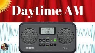 Sangean PR-D19 AM FM Portable Radio | Daytime AM Band Scan