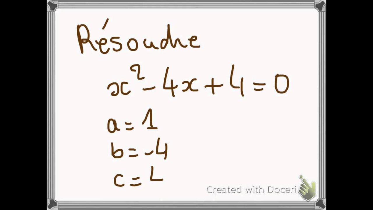 Equation du second degré : exemples - YouTube