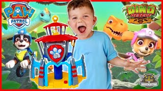 NEW Paw Patrol Dino Rescue HQ Toys Playset with New Pup Rex and Mystery Dinosaur