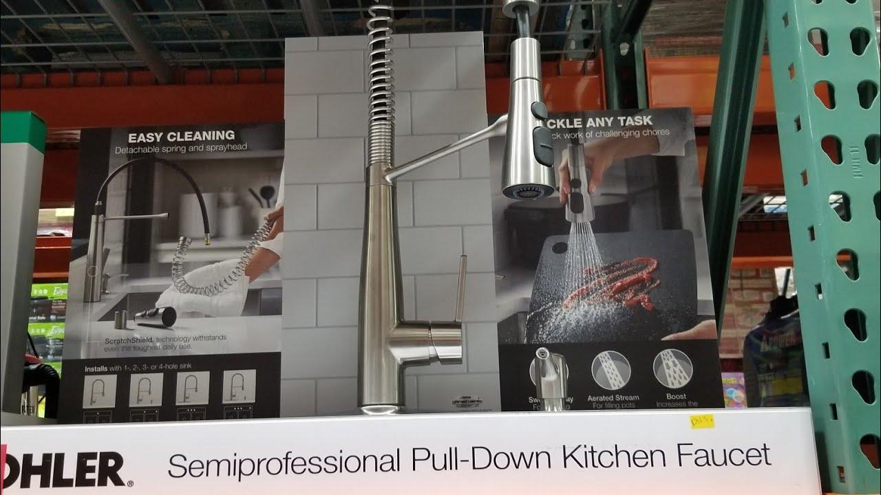 Costco Kohler Semi Professional Pull Down Kitchen Faucet 239 Youtube