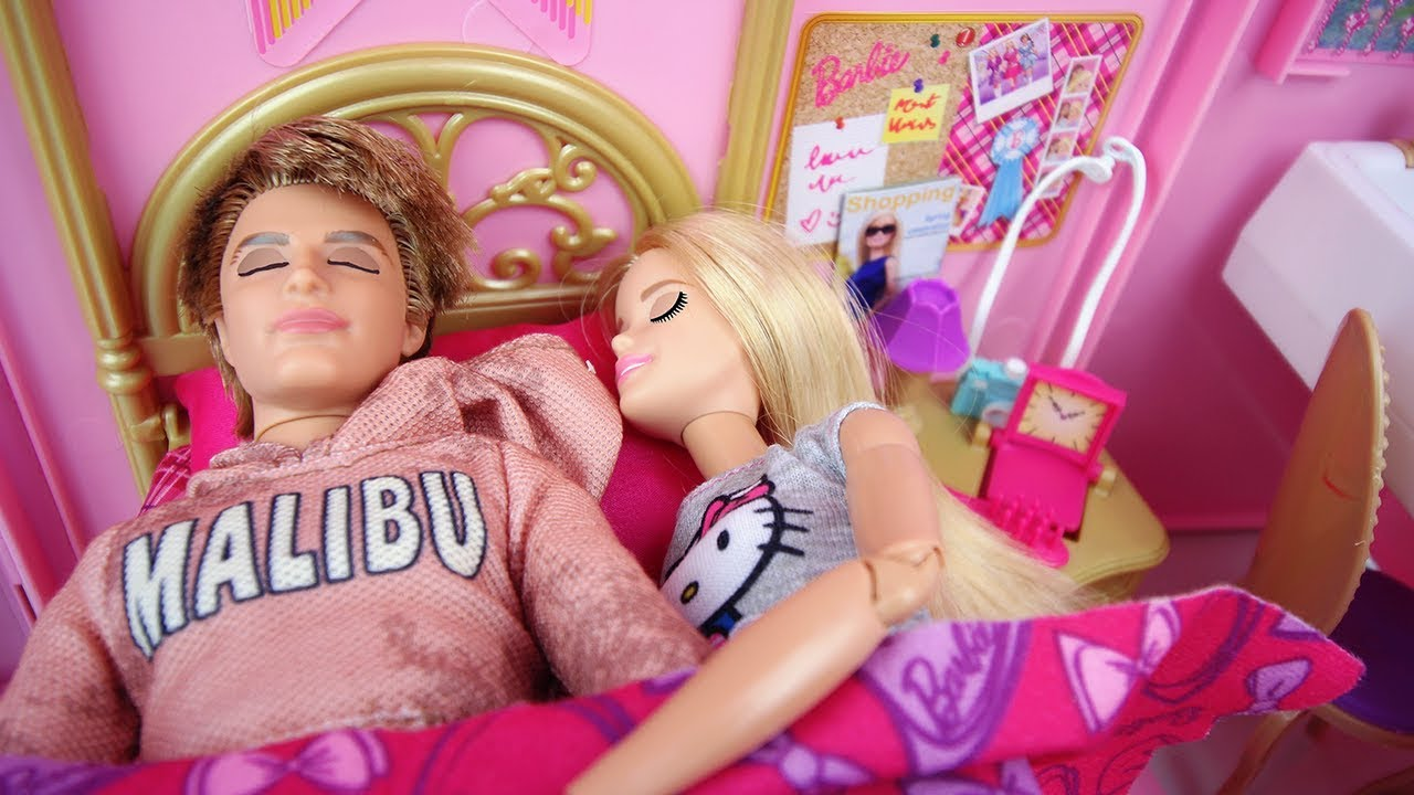 finest selection no sale tax buy popular Barbie & Ken Morning Routine Bedroom, after wedding Doll House,Parc,poupée  routine