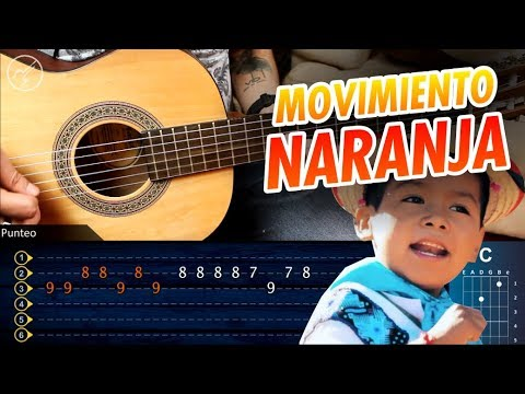 Movimiento Naranja Yuawi | Tutorial Guitarra | Punteo + Acordes Christianvib