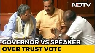 """ Lost Majority"" Governor Deadline To Karnataka Coalition For Trust Vote"