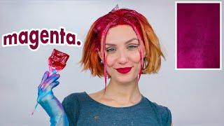 Dyeing my hair MAGENTA PINK