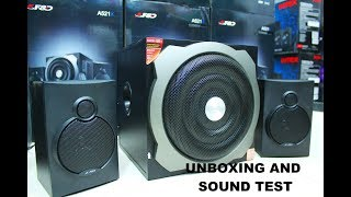 F&D A521X 2.1 Speaker Unboxing and Sound TEST | BEST 2.1 F&D SPEAKER