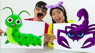 Learn Colors and Animal Names with Finger Paint Colours for Kids