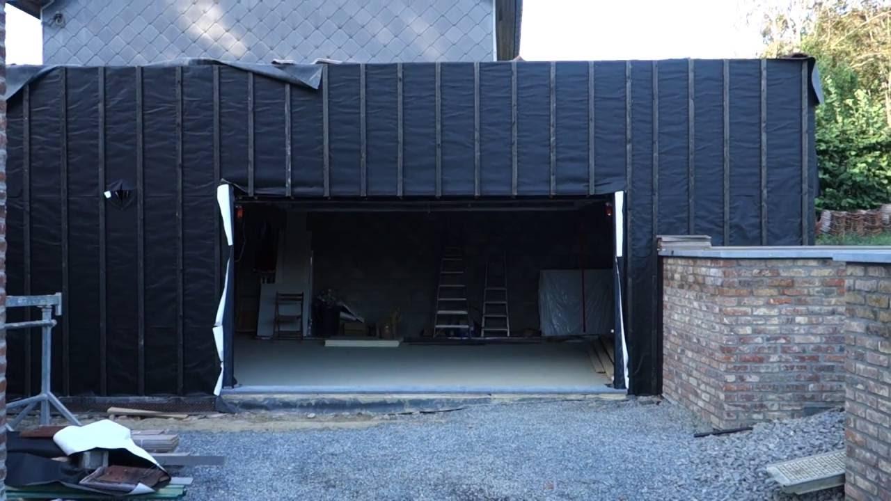 Porte de garage bardage youtube for Porte de garage mulhouse