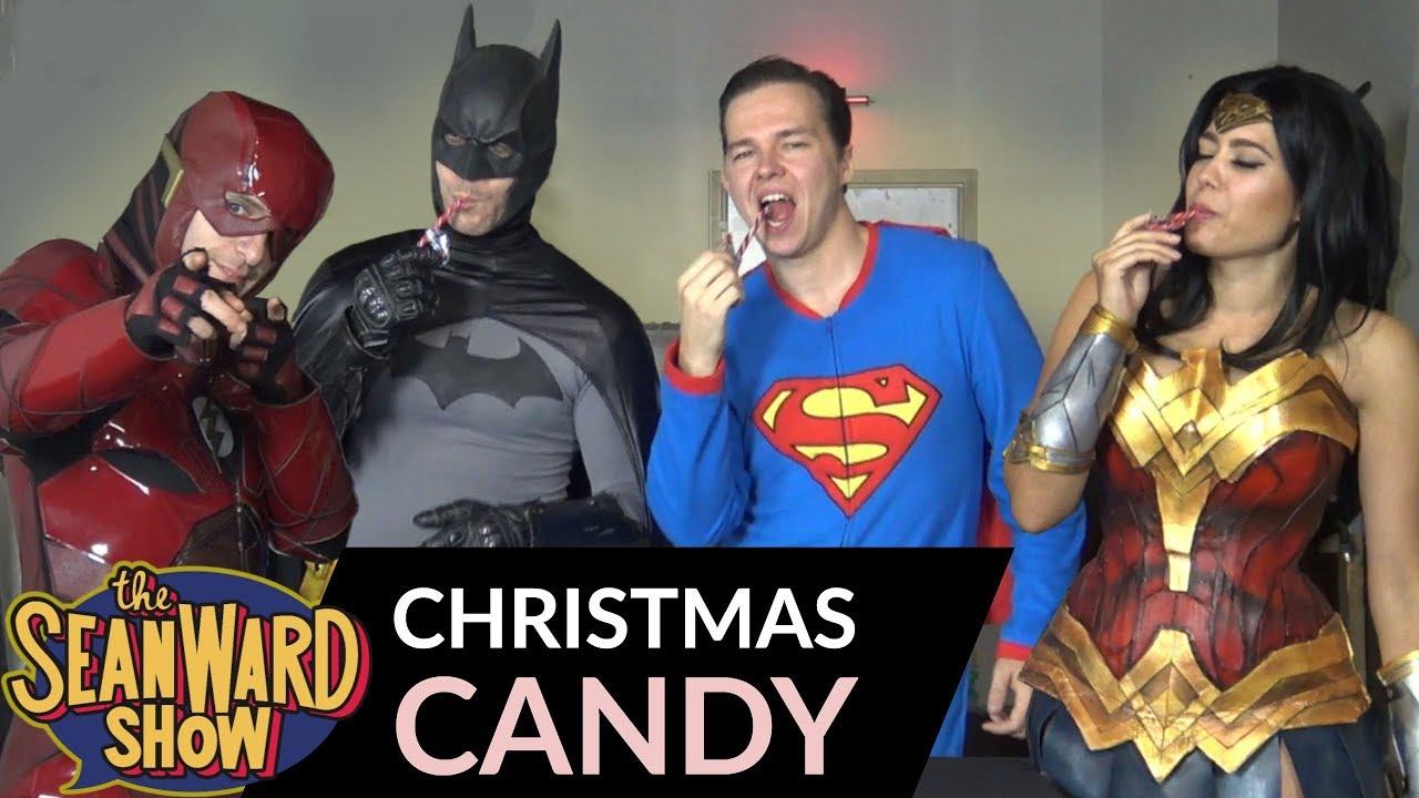 BATMAN, SUPERMAN - Justice League Tries Christmas Candy - WONDER ...