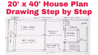 How To Draw House Plan Step By Step Method 2021 Youtube