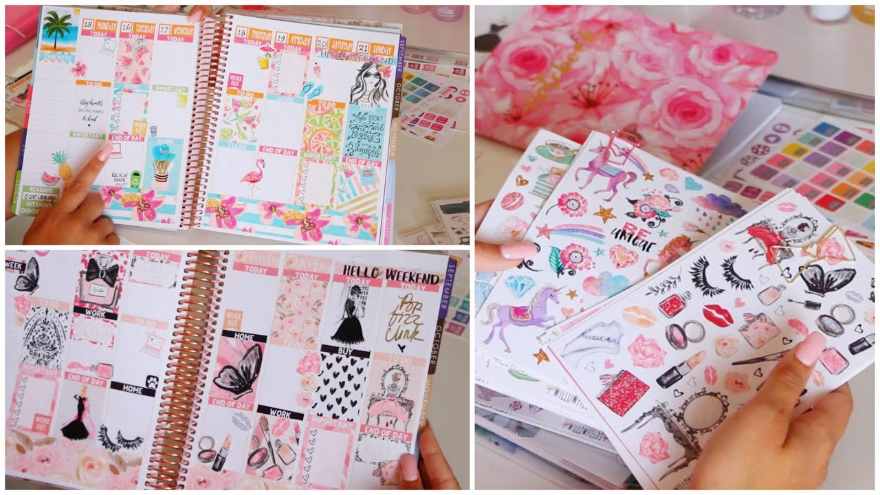 Planner Sticker Haul Plan With Me Erin Condren Weekly Spreads