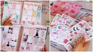 Planner Sticker HAUL + Plan With Me  Erin Condren Weekly Spreads!