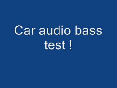 car audio competition - iasca - spl bass test