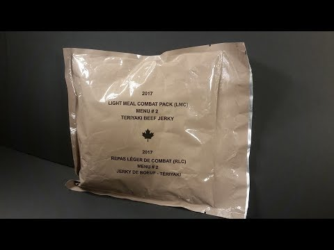 2017 Canadian Light Meal Combat MRE Review LMC Meal Ready To Eat Taste Testing