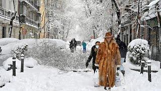 Испания под снегом: жертвы и транспортный хаос