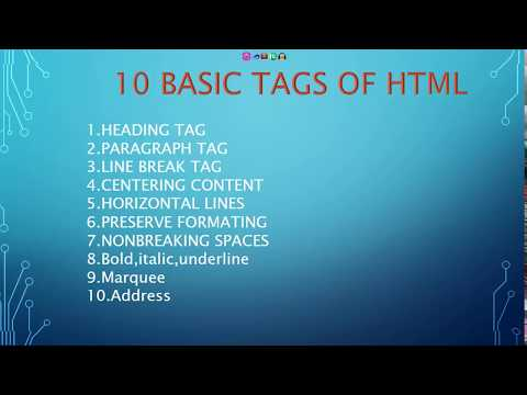 10 BASIC AND IMPORTANT HTML  TAGS Every Web Developer Should Know