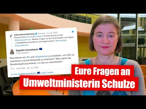 Eure Fragen an Umweltministerin Svenja Schulze (15.01.2020)
