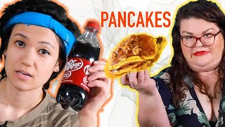 Kristin And Jen Compete To Make The Best Pancake | Kitchen & Jorn