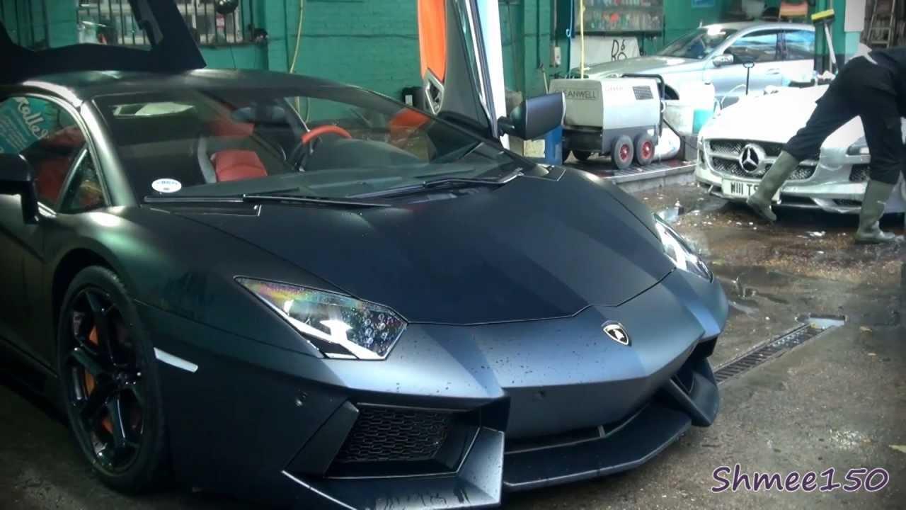 Supercar Car Wash   SLS AMG, Aventador, R8 V10, Boxster S   YouTube