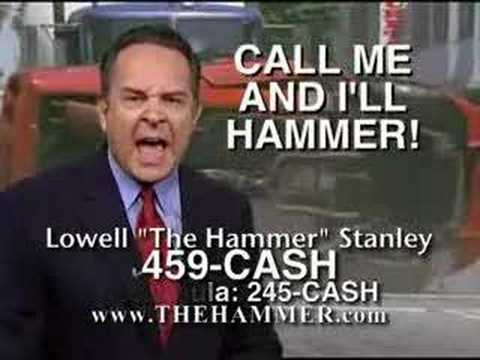 """I am the Hammer, they are the nails"" - Lowell Stanley"
