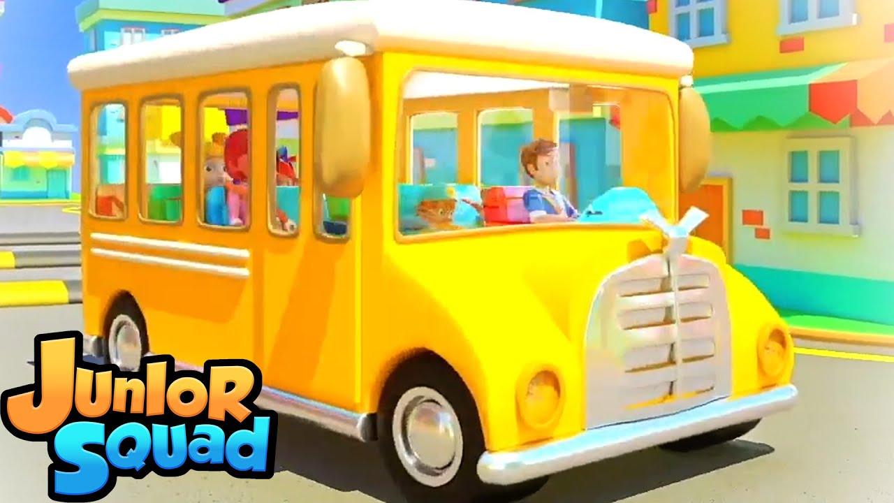ล้อบนรถบัส | เพลงเด็๋กอนุบาล | เพลงสำหรับเด็ก | Junior Squad Thailand | การ์ตูน