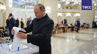 Путин проголосовал на выборах депутатов Госдумы