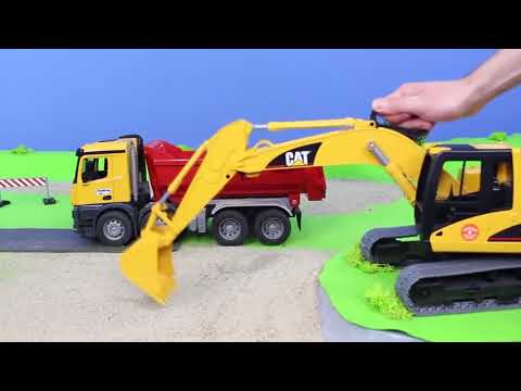 Pelleteuse, camion , truck & grue chantier de construction Excavator Toys