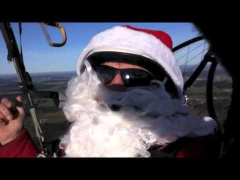 so fliegt der Weihnachtsmann nach Hause...