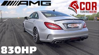 830HP Mercedes-Benz CLS63 AMG COR-Tuning 1/2 Mile Accelerations