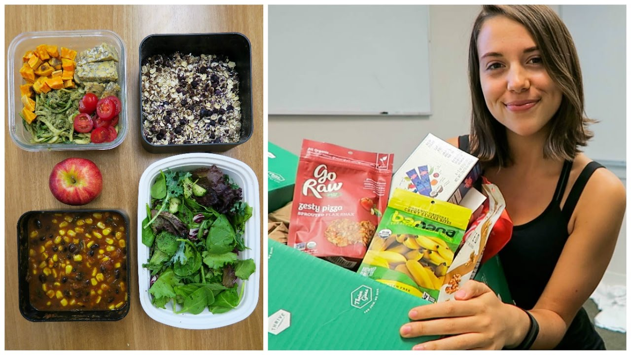 What I Ate on a Busy School Day + Healthy Snack Haul (Vegan)