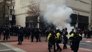 Protesters arrested in Portland May Day demonstrations