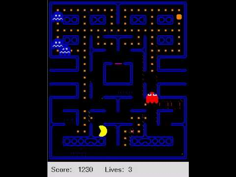 Reinforcement learning agent plays Ms. Pac-Man