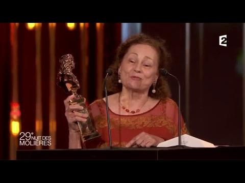 Molière de la Comédienne (Théâtre Privé): Catherine Arditi - Molières 2017