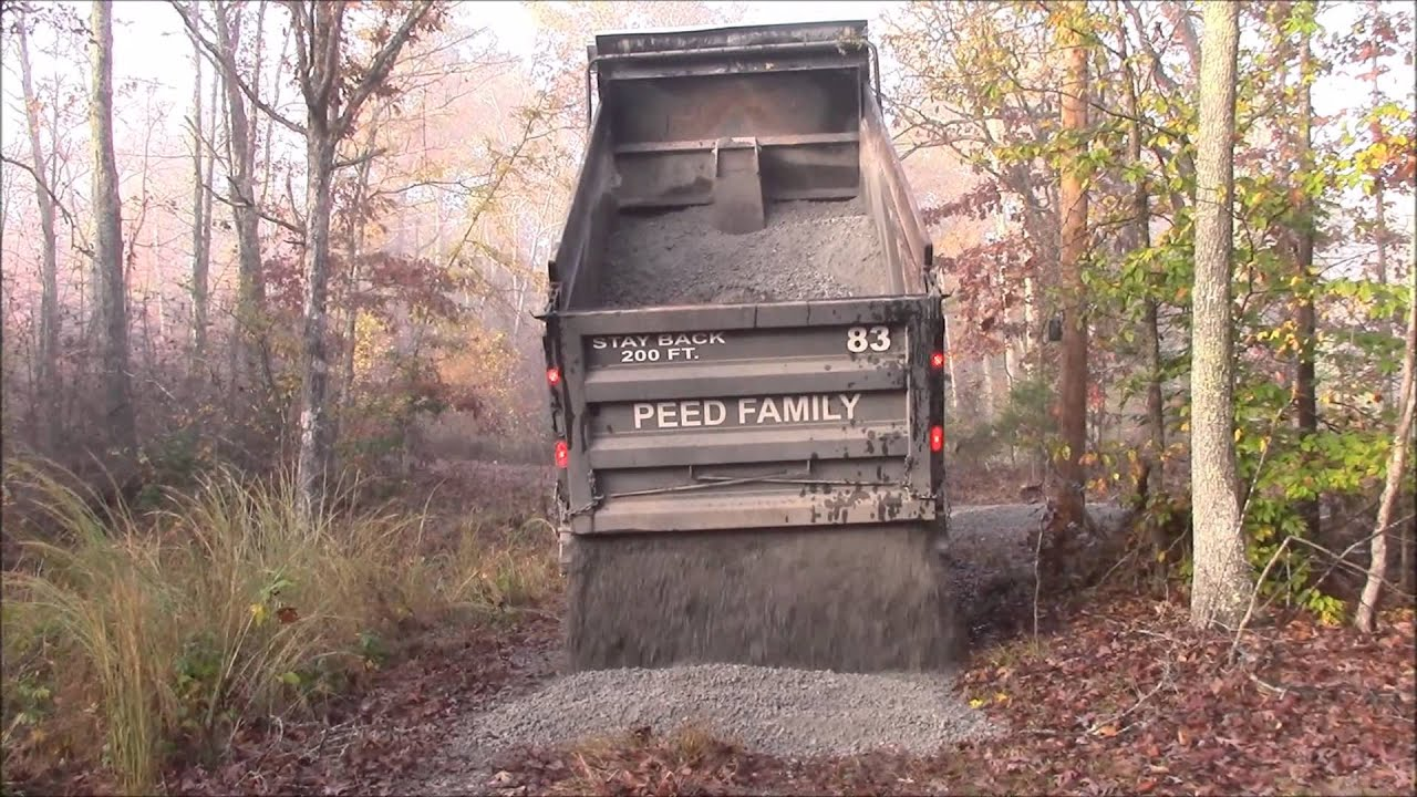 How Much Is A Ton Of Gravel >> Crush Run Gravel Delivery And Spreading 20 Tons