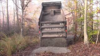 Crush&Run Gravel delivery and spreading 20 tons