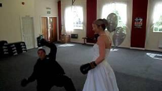 Lisa Thompson knocks out Boxer Leigh Allis