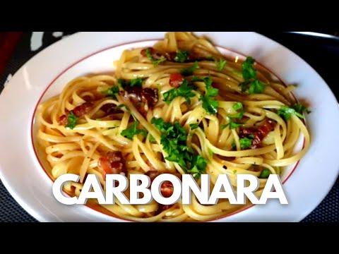 Spaghetti Carbonara 20 Opskrift 174 Youtube